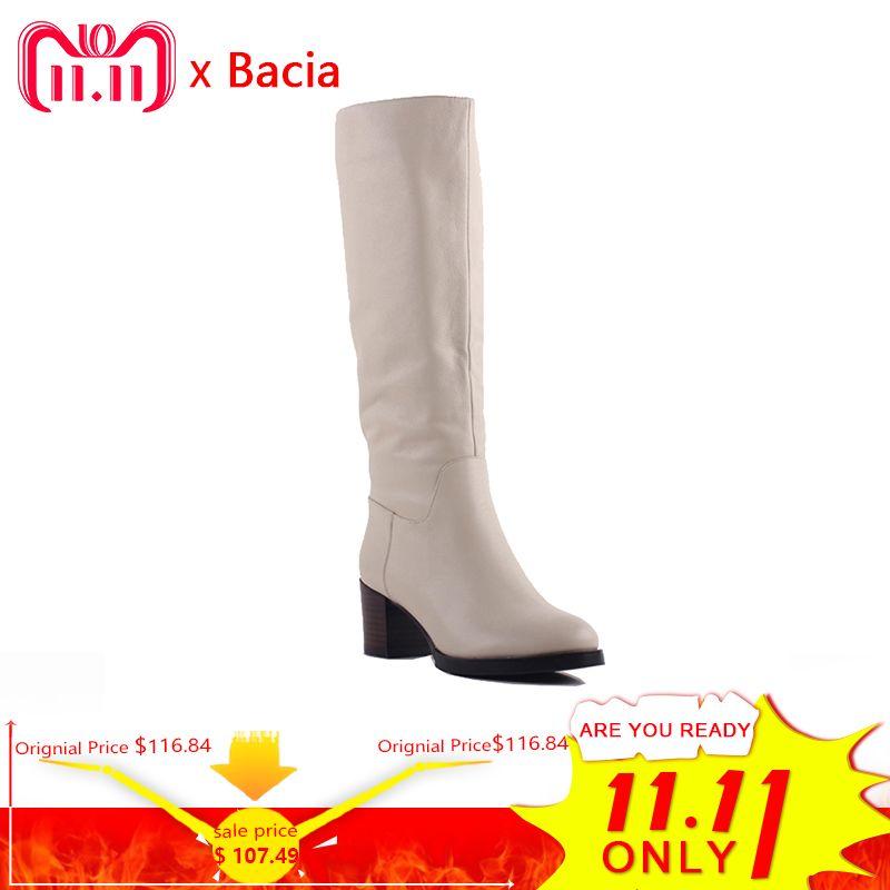 Bacia 100% Echt Pelz Klassischen Mujer Botas Echtem Rindsleder Schnee Stiefel Winter Schuhe für Frauen Licht Apricot Stiefel SA077