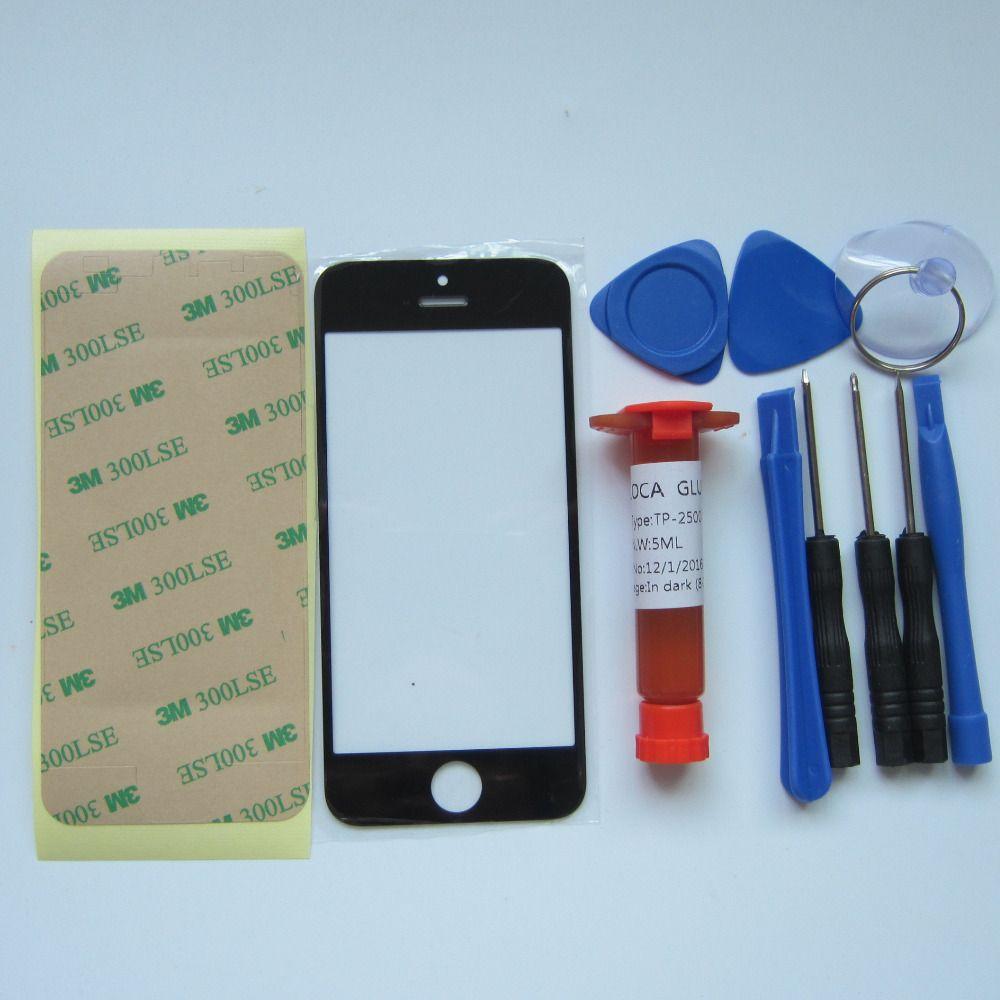 Panbon Front-außenglaslinse Abdeckung Ersatzteile Für iPhone 5 5 S 5C 4 S 4 6 6 s plus TouchScreen Protector & tools & uv kleber