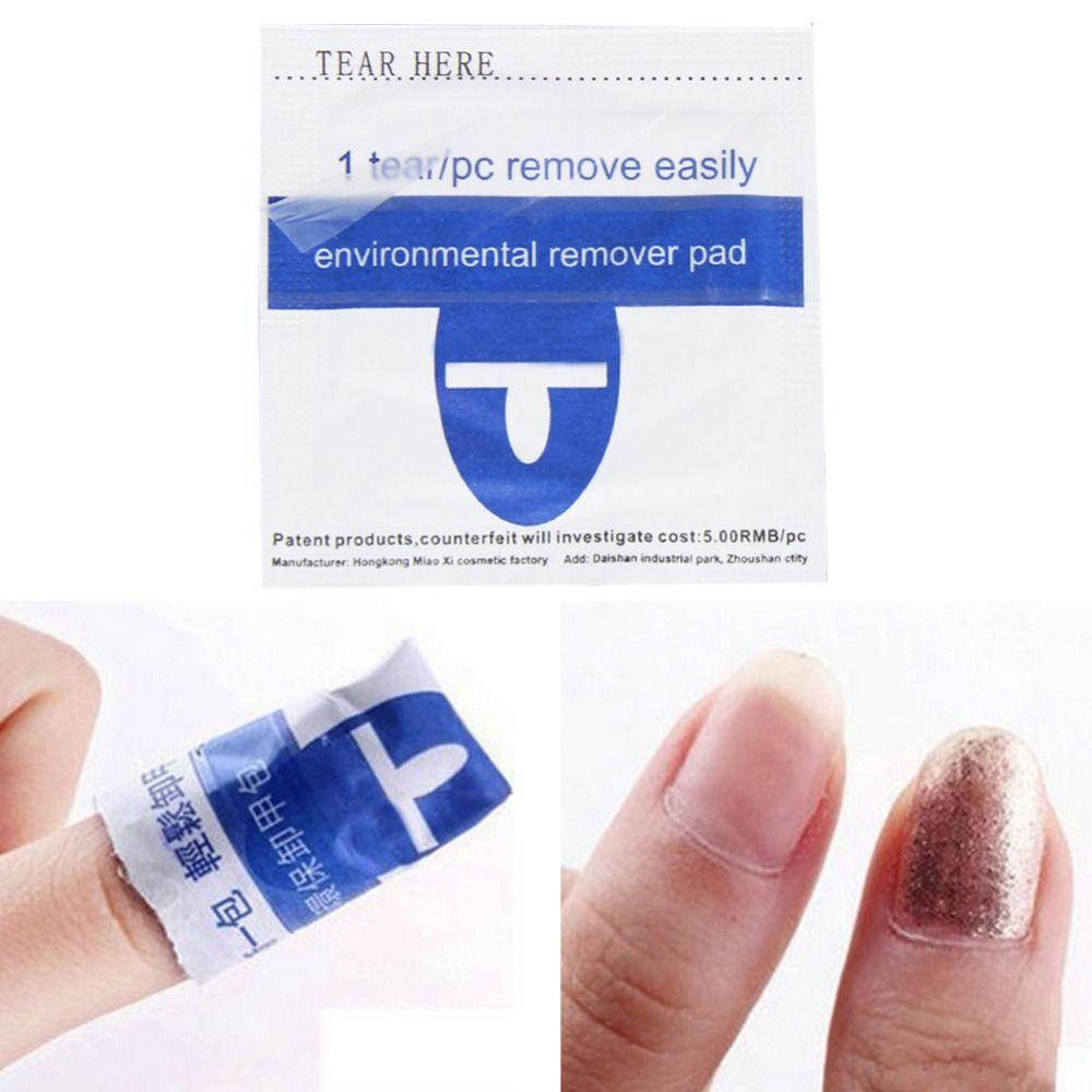 200pcs Foiled UV Gel Nail Polish Remover Wraps Pad Nail Art Varnish Cleaner Manicure Polish Pigment Removal Acetone Paper Tools