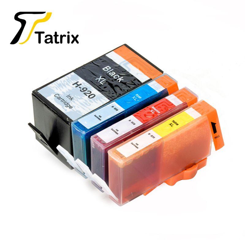 Tatrix 4PK 920XL Cartouche D'encre Pour HP 920 XL Pour HP HP Officejet 6000 6500 Sans Fil 6500A 7000 7500 7500A
