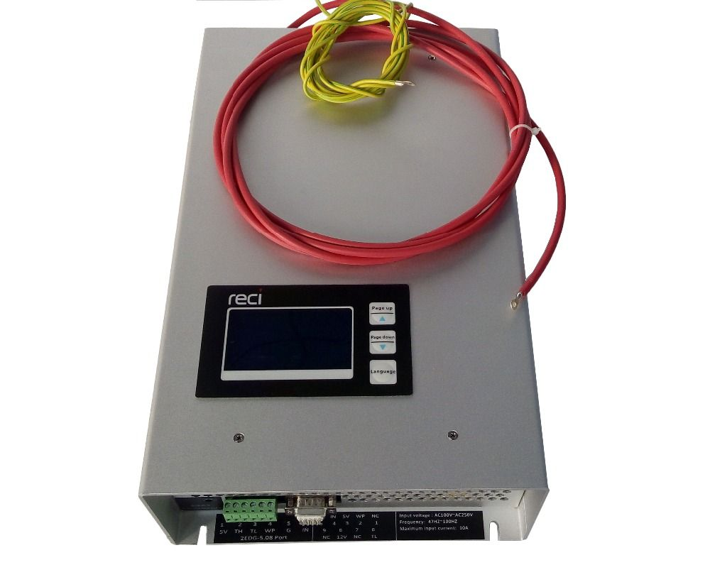 130w RECI P16 Digital Display Intelligent 110v-220v co2 Laser Power Supply for reci w6 glass tube for cutting machine