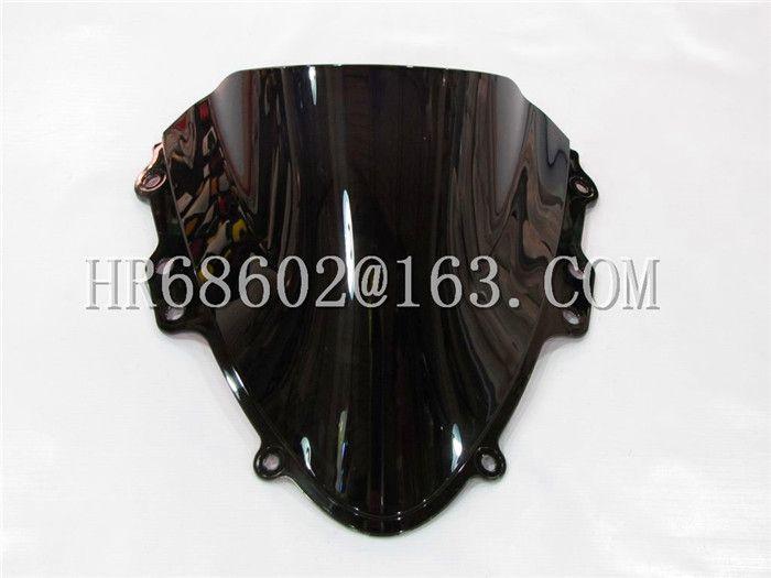 Freeshipping For Suzuki GSXR 600 750 R K4 gsxr 600 750 r k4 2004 2005 04 05  black Windshield WindScreen Double Bubble
