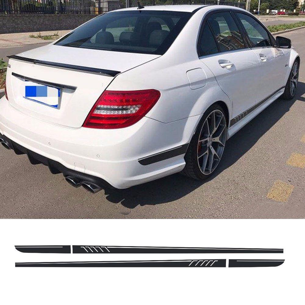 Mate Negro 507 Estilo Rayas Pegatina para Mercedes Benz W204 S204 Coupe C 63 AMG