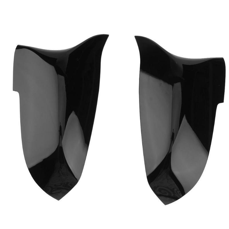 1 para Carbon Faser Tür Flügel Spiegel Abdeckung Glanz Schwarz Kappen für BMW F01 F06 F10 F11 F12 F13 2014 -2017