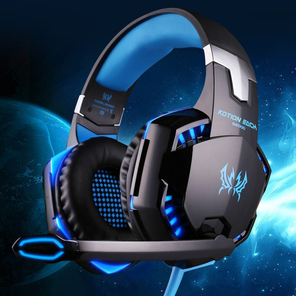 KOTION EACH G2000 Gaming Headset Wired Earphone Gamer Headphone With Microphone LED Noise <font><b>Canceling</b></font> Headphones For Computer PC