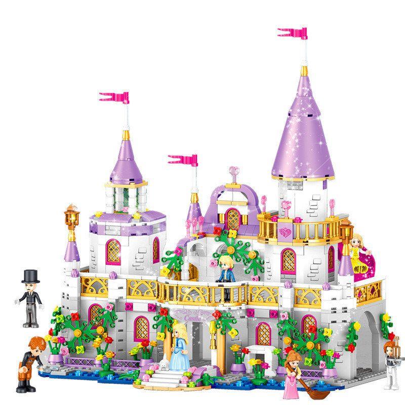 731pcs Romantic Castle Princess Friend Girl Building Blocks Bricks For Children Sets Toys Compatible With LegoINGlys Friends