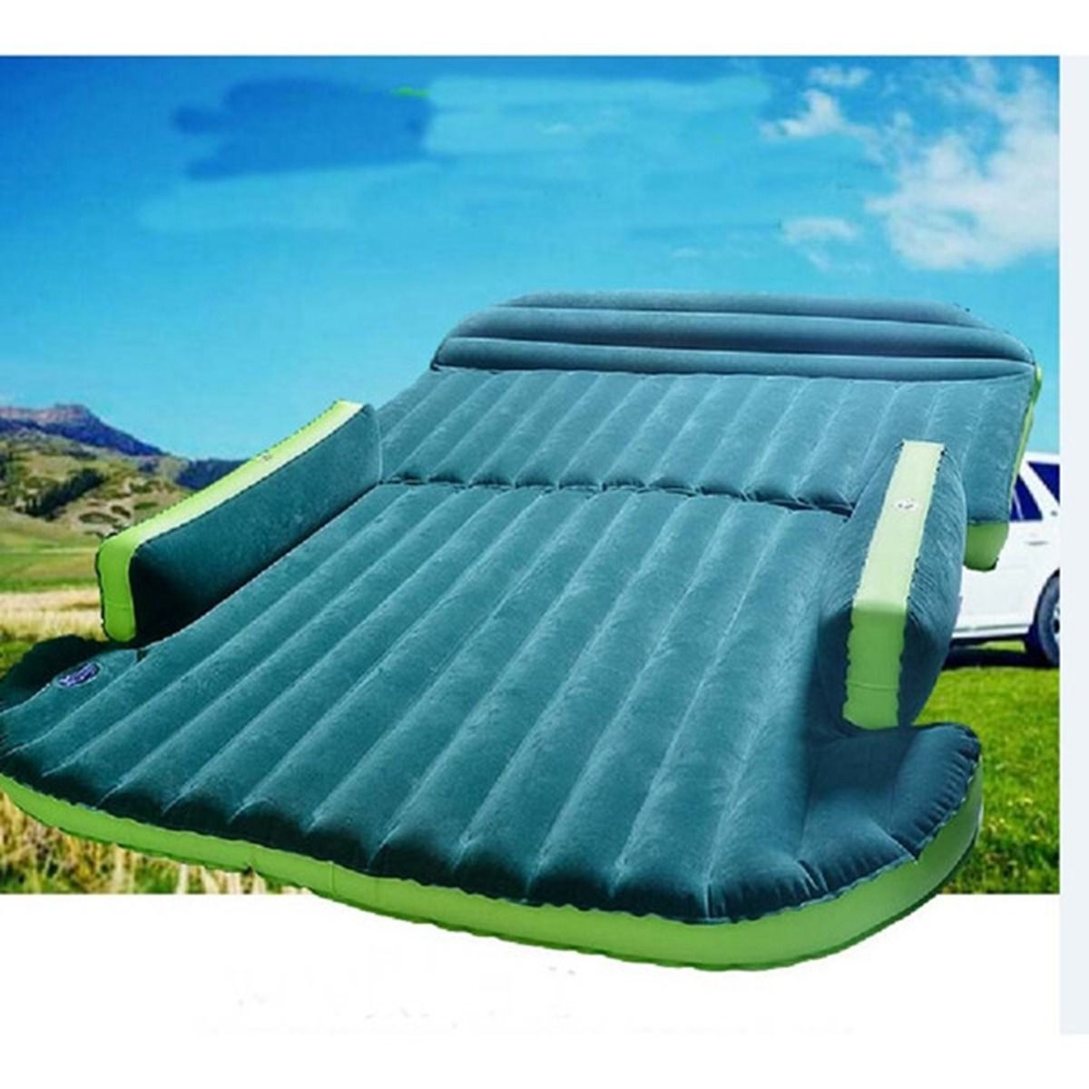 Car Inflatable Mattress - Seat Travel Bed Air Bed Cushion Travel Beds Sofa with Pump Camping Moisture-proof Pad Outdoor for SUV
