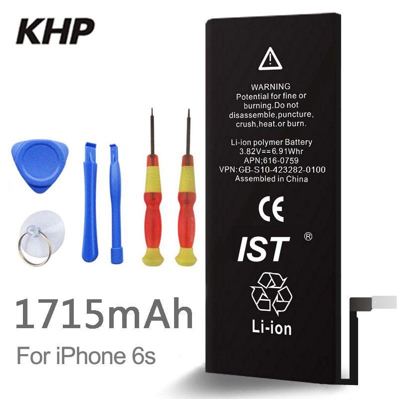 2018 Nouveau 100% D'origine KHP Téléphone Batterie Pour iphone 6 S Réel Capacité 1715 mah Avec Machine Outils Kit Mobile Batteries 0 Cycle