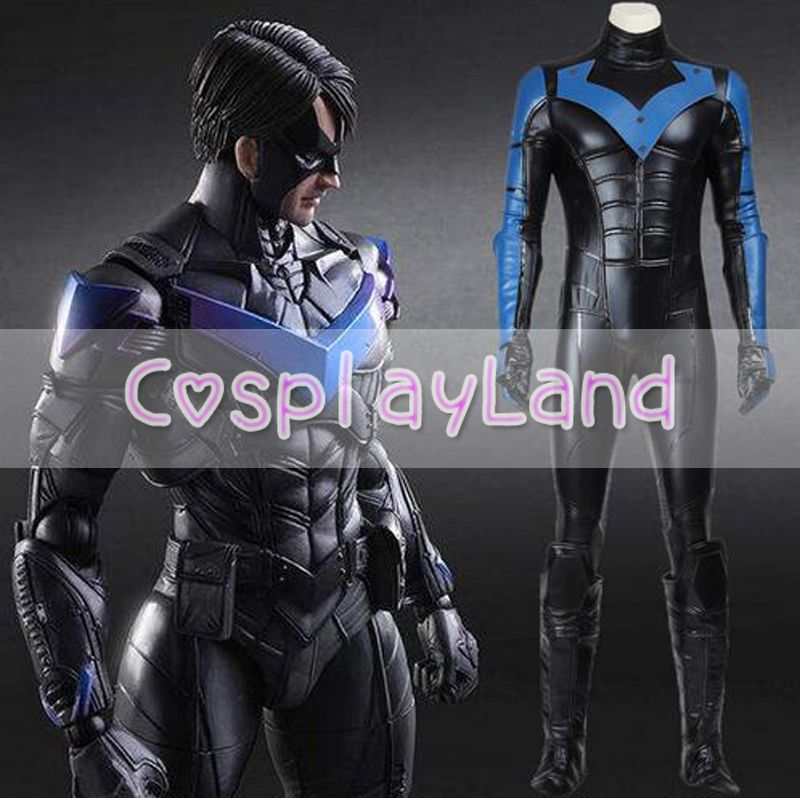 Batman Nightwing Cosplay Kostüm Arkham Stadt Richard John Dick Grayson Anzug Halloween Cosplay Kostüm Nach Maß Overall