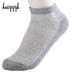 20 шт. = 10 пар однотонных сетчатых мужских носков невидимые носки по щиколотку мужские летние дышащие тонкие носки-лодочки Размер EUR 38-43 дешев...