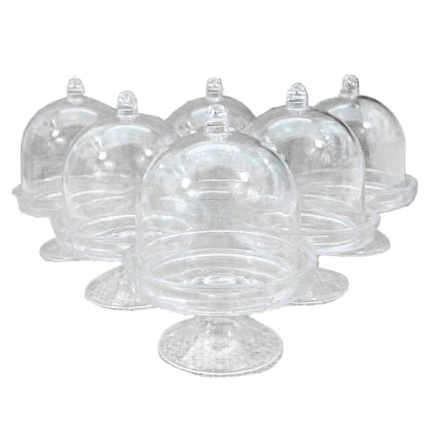 Practical Boutique 12x Mini Cake Stand Cupcake box Wedding Party Plastic Candy Box