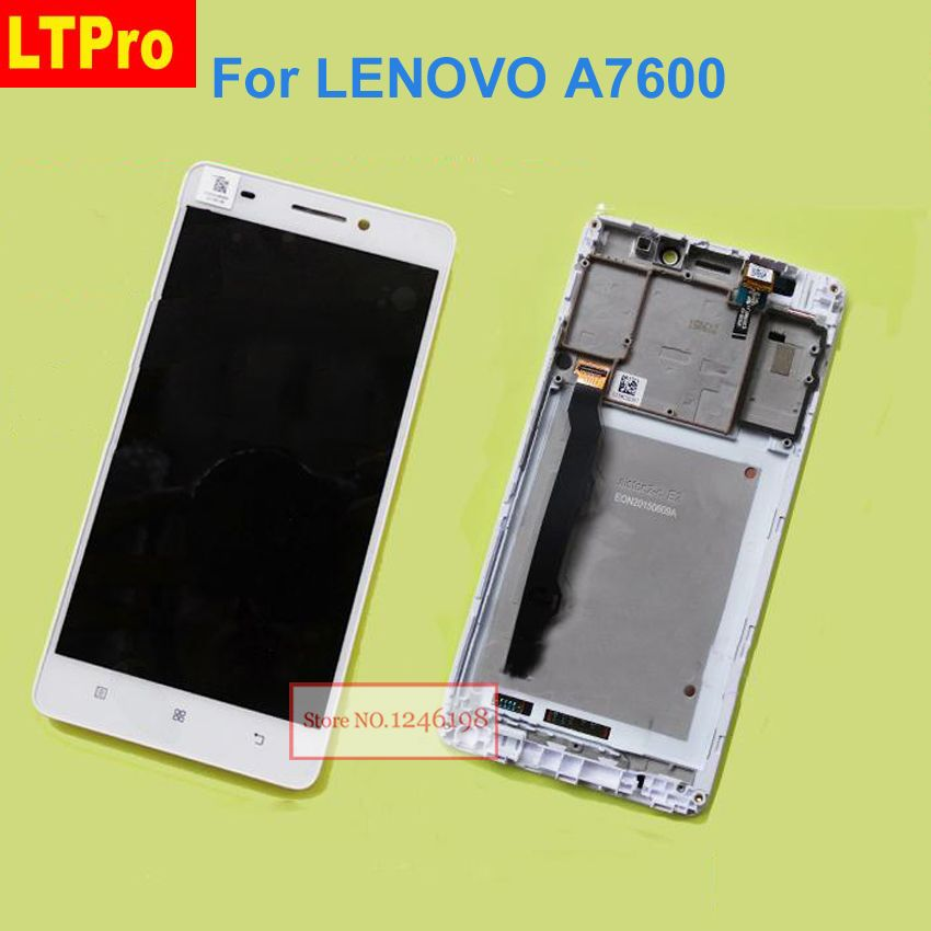 LTPro TOP Quality Black/White LCD Display Touch Screen Digitizer Assembly with Frame For Lenovo S8 A7600 A7600M Phone Parts