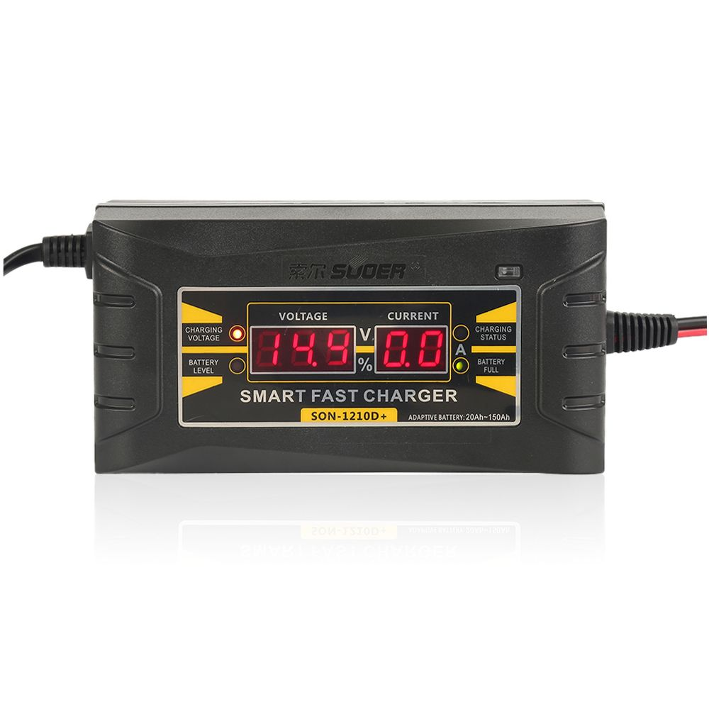 Liplasting 12V 10A Smart Fast Lead-acid Battery Charger for Car Motorcycle Chargeur de batterie au plomb LCD Display EU XNC