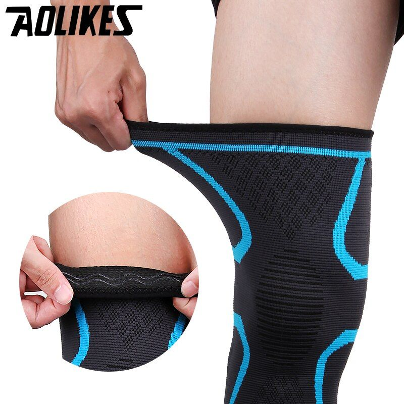 2PCS Fitness Elastic Nylon Compression Basketball KneePad Running Cycling Knee Support Sports Braces Sleeve Volleyball Protect