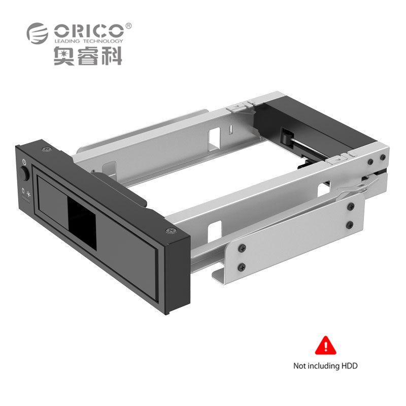 Алюминий 3.5 дюймов SATA HDD Mobile Рамки с светодиодные стойки Поддержка 6 ТБ Емкость