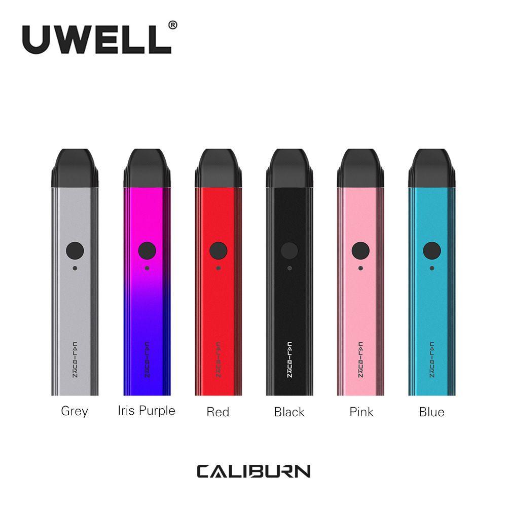 En Stock!!! Kit de système Portable UWELL Caliburn 2ml cartouche à dosette 11W 520mAh Kit de Cigarette électronique