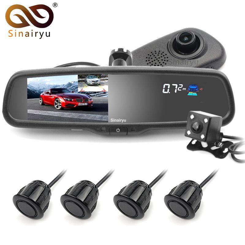 Original Bracket Car Dvr Detector Camera Review Mirror DVR Video Recorder Camcorder Dash Cam FHD 1080P With 4 Parking Sensor