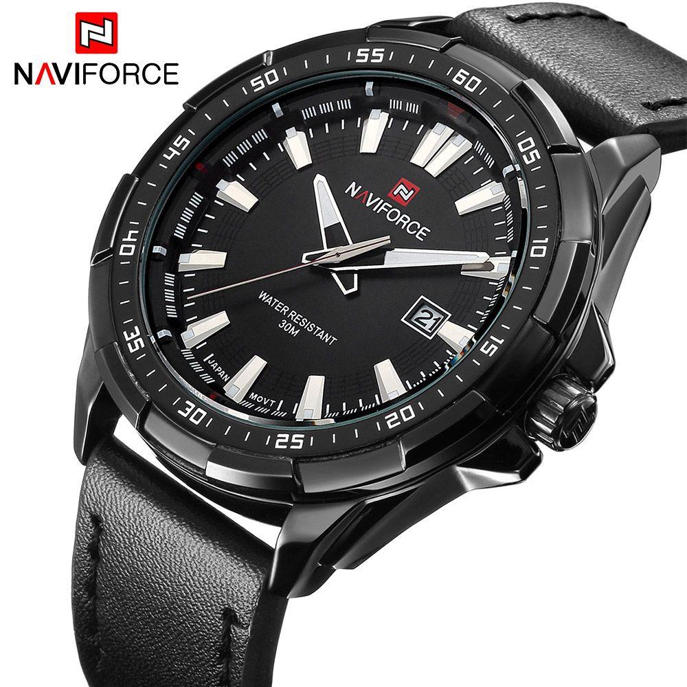 New Luxury Brand NAVIFORCE Watches Men Quartz Hour <font><b>Date</b></font> Leather Clock Man Sports Army Military Wrist Watch Relogio Masculino