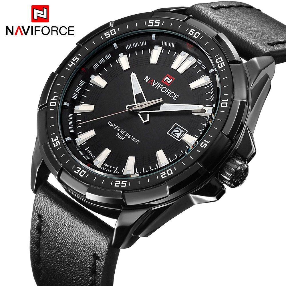 New Luxury Brand NAVIFORCE Watches <font><b>Men</b></font> Quartz Hour Date Leather Clock Man Sports Army Military Wrist Watch Relogio Masculino