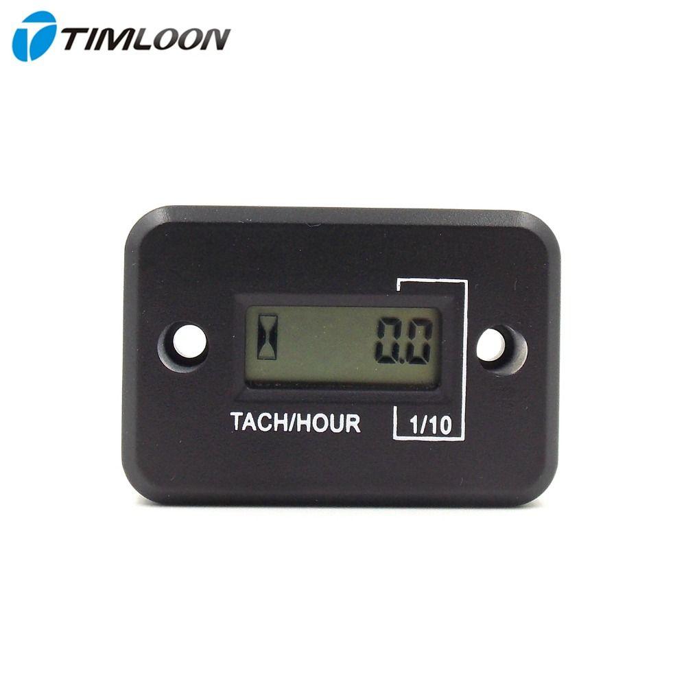Wasserdichte LCD Display Digitalen Drehzahlmesser Tacho Gauge Stunden Für Motorrad/Bootsmotoren/4 2-takt-benzinmotor