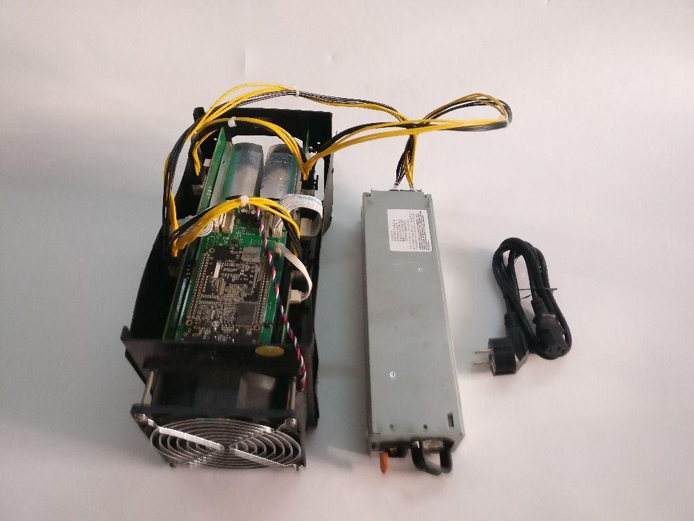 Verwendet BTC miner Antminer S5 1150G 28NM BM1384 Bitcoin mining maschine ASIC miner (mit psu) senden durch DHL oder SPSR von YUNHUI