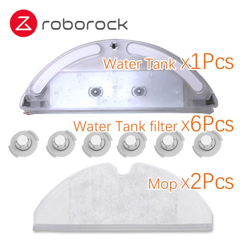 Original Xiaomi Roborock S50 S51 Roboter-staubsauger Ersatzteile Kits Wischen Tuch Trocken Wasser Tank * 1 mopp * 2 wasser Tank Filter * 6