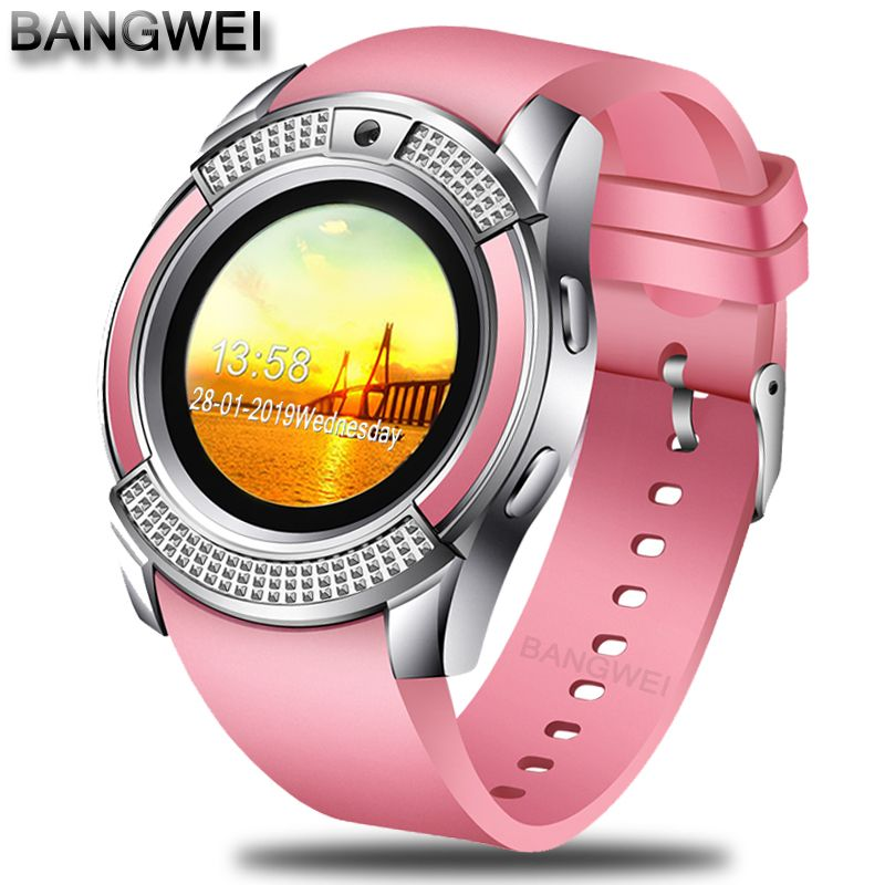 BANGWEI 2018 New Women Smart Watch LED Color Screen Fashion Sport Pedometer Clock Android Smart Phone Watch Relogio inteligente