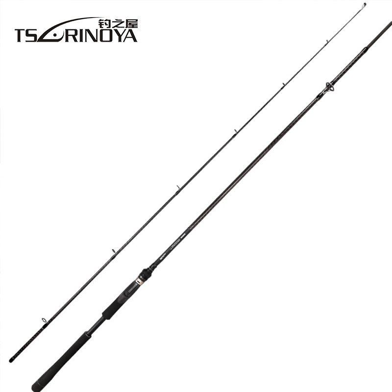 TSURINOYA TYRANTS 802M 902M FUJI Accessory Bass Rod Long Distance Throw Spinning Rod 2.4M Carbon Fiber Carp Fishing Rods Pole