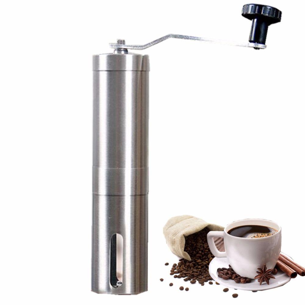 Manuel moulin à café main en acier céramique noyau café meulage main moulin café fraise broyeur en céramique maïs Machine à café