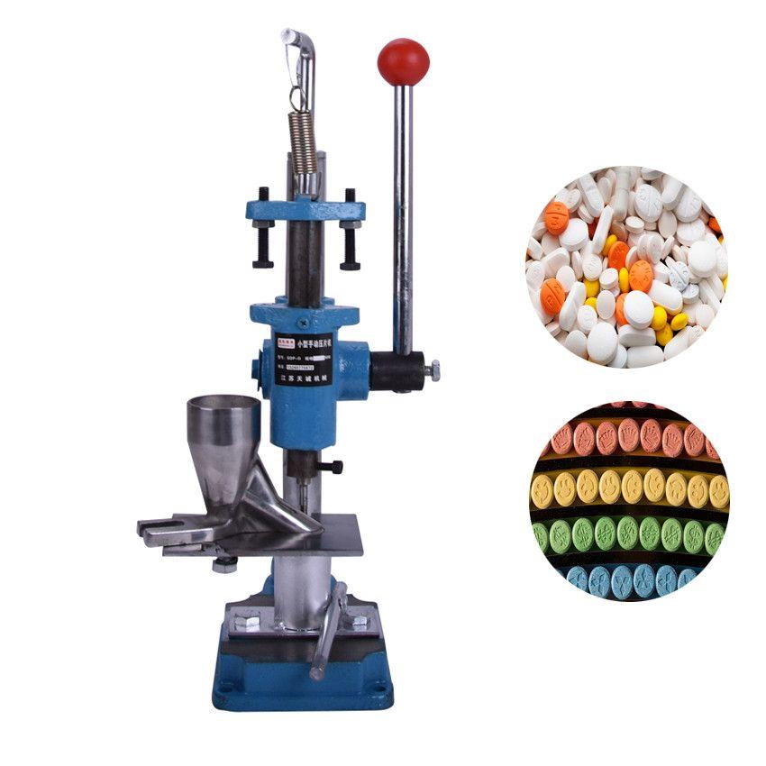 SDP-0 Manuelle tablettenpressmaschine push typ, labor medizin, kräuterpulver tablettiermaschine pille stanzen maschine + punch sterben