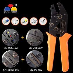 Crimping Tool Tang 2.54/3.96/5557/2.8/4.8/6.3 RV/SV/UT/ PL Terminal Ferrule Crimper Kawat Alat Tangan Alicate Crimpador Sn-28b