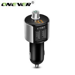 Onever Wireless Bluetooth FM Transmitter Modulator Mobil Radio Adaptor Mobil MP3 Pemain 3.4A Charger Mobil Ganda USB Kit Mobil Bebas Genggam