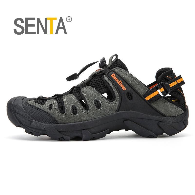 Summer Men Outdoor Sneakers Breathable Hiking Shoes Men Women Outdoor Hiking Sandals Men Trekking Trail Water Sandals Big Size
