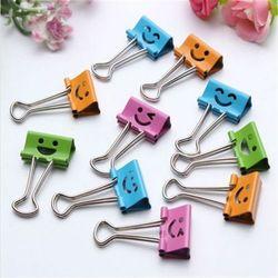 10 piezas útil sonrisa Clips lindos para el hogar Oficina libros archivo organizador de papel Clip