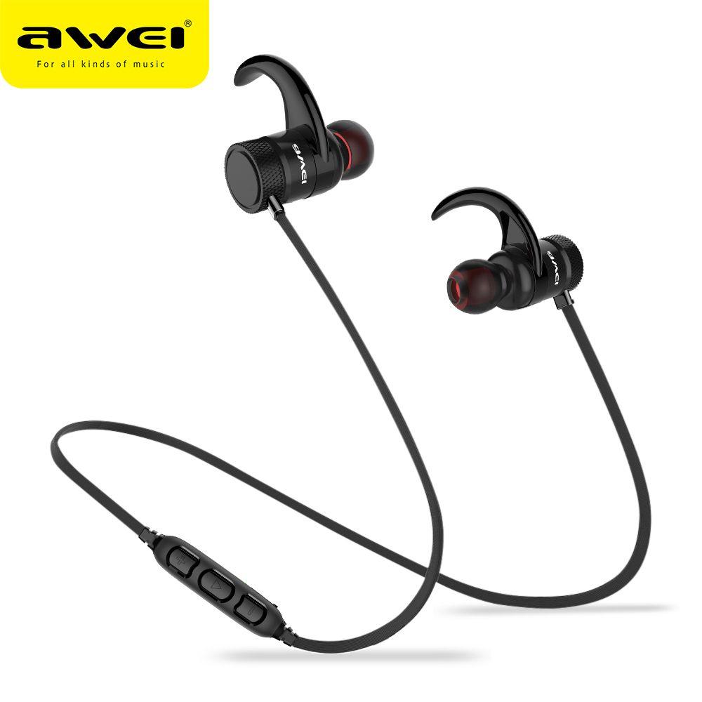 Awei A920BLS 4.1 Bluetooth Casque Sans Fil Écouteurs Sports IPX5 Étanche Casque Crochet D'oreille Mains Libres Avec Micro Pour Téléphone