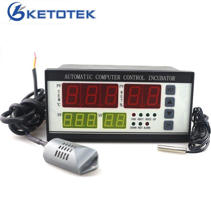 XM-18 Incubator Thermostat Hygrostat AC 160V ~ 240V / 110V 0 ~ 99.9C Egg Incubator Temperature Humidity Controller with 2 Sensor