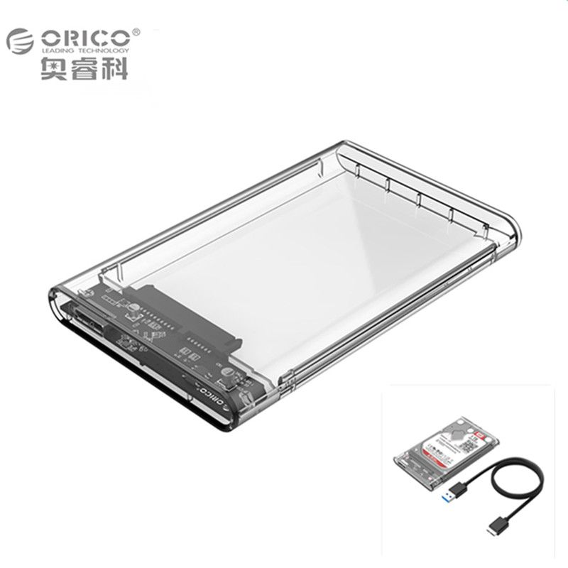 ORICO Transparent Gray Eco ABS hdd case 2.5 usb 3.0 interface  for Hard Disk Drive