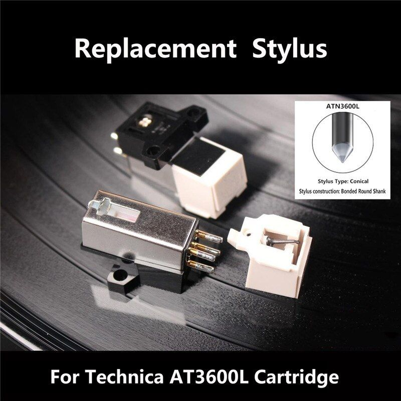 Dynamic Magnetic 20Hz-20Khz 12.5 mm Metal Needle Stylus Turntable Headshell Kit For Technica 3600L MM/LP Record Player Plastic