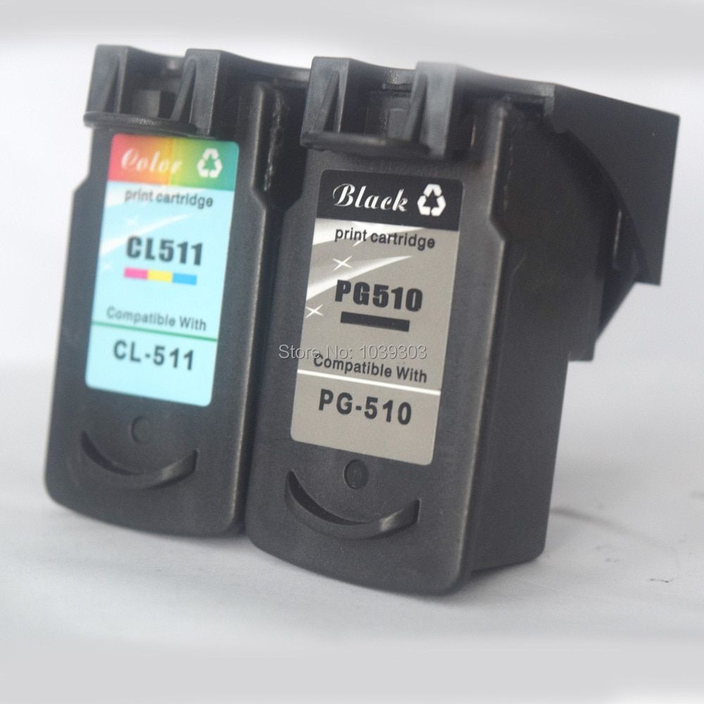 2PK  PG 510 CL 511 Ink Cartridge Compatible For Canon PG510 CL511 PIXMA IP2700 MP230 MP240 MP250 MP260 MP270 MP272 MP280