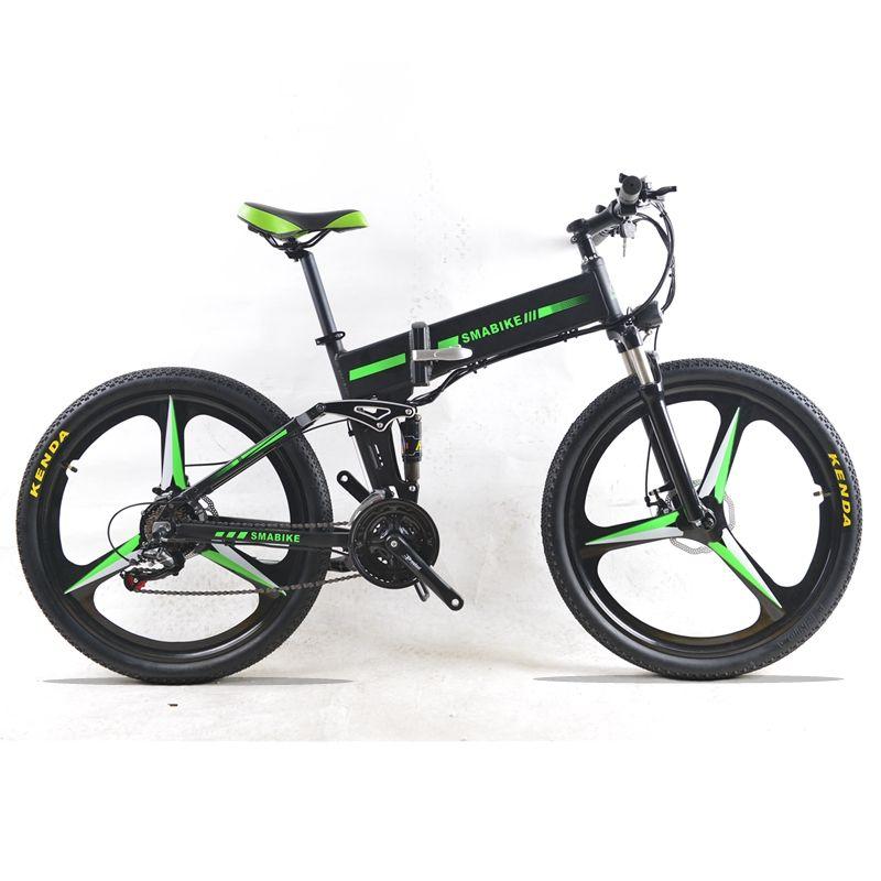48 V 350 Watt E-bike Mountainbike Hybrid Electric Fahrrad wasserdichten Rahmen Innen Li o 7,8 Ah Batterie Klapp e bike