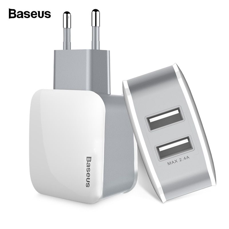 Baseus Dual USB Charger For iPhone Fast Charging USB Plug Turbo Wall Charger For Samsung Xiaomi Mi Mobile Phone Charger Adapter