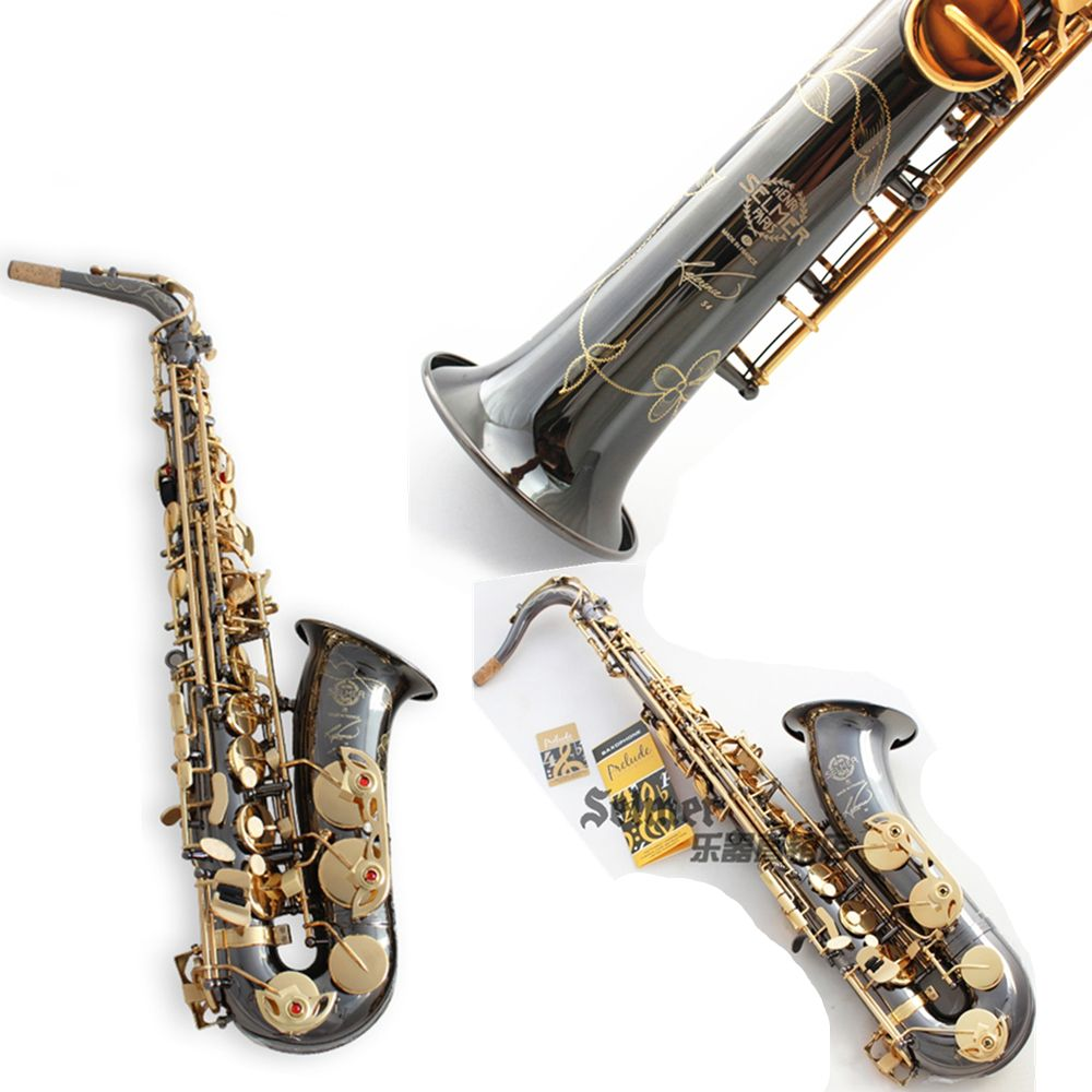 France Salmer Saxophone R54 Soprano Tenor Sax B Flat Alto bE Saxofone Professional Musical Instruments Black Nickel Gold