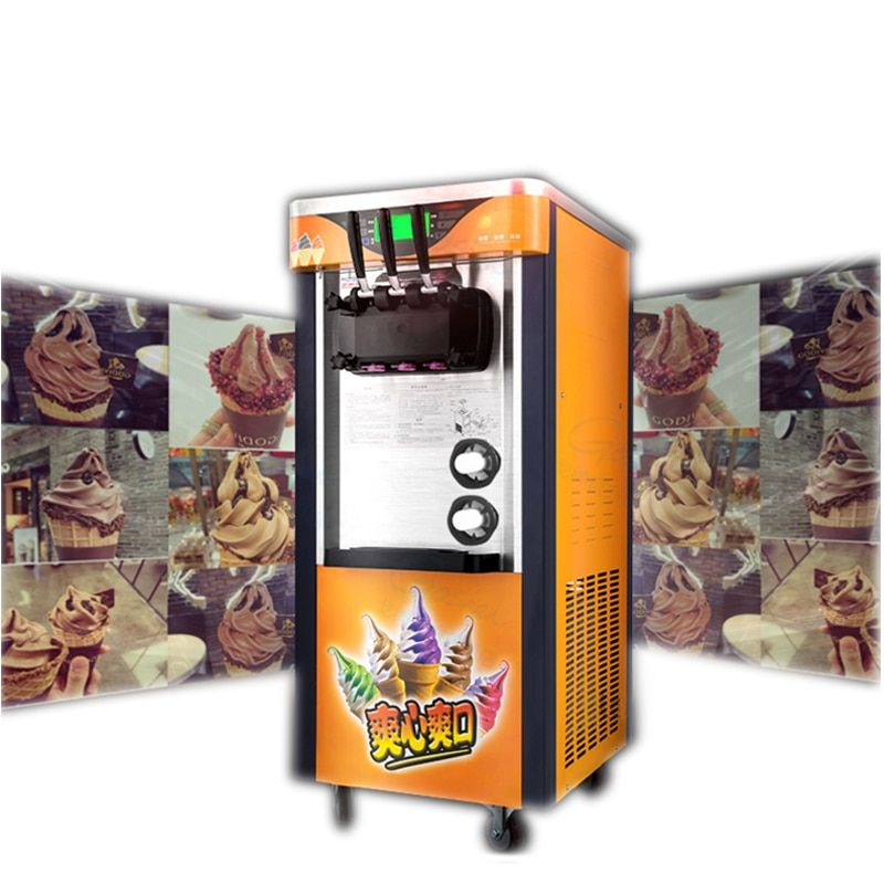 2100W Commercial Soft Ice Cream Machine Automatic Ice Cream Maker Intelligent Soft Serve Ice Cream Machine BJ918CW-D2