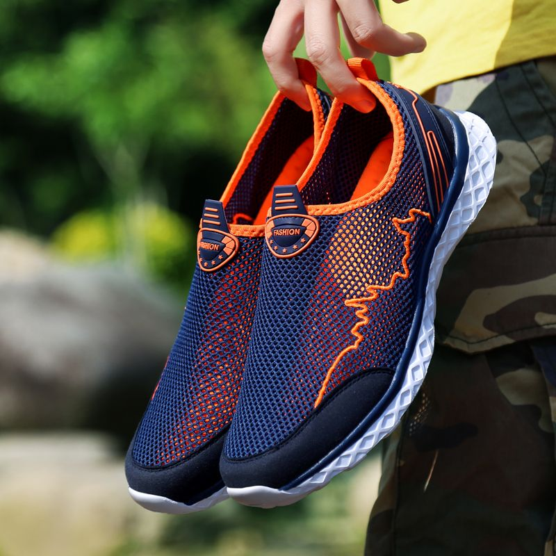 MAISMODA Summer Outdoor Shoes Men Women Lightweight Breathable Mesh Creek Beach Quick Dry Wading Upstream Fishing Net Water Shoe