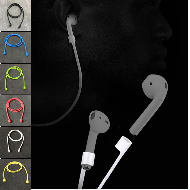 Silikon airpod kein verlust straps für iphone7 7 plus Drahtlose Kopfhörer Bluetooth ohrhörer soft anti-verlorene seil verbinden kabel