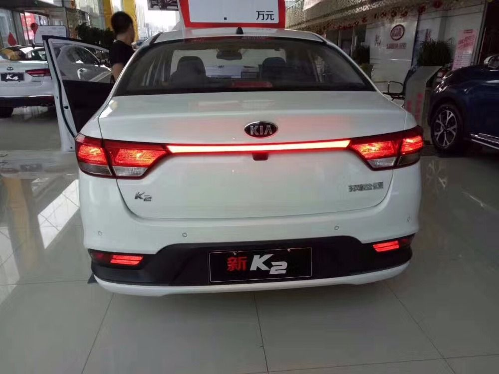eOsuns led additional brake light , driving lamp, moving turn signal for kia k2 rio 2017-18, wireless switch control