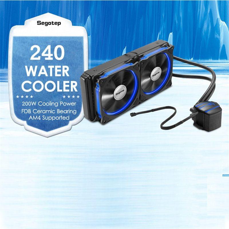 240 CPU Prozessor Flüssigkeit Wasserkühlung Kühler Doppel PWM 120mm LED Lüfter PC Fall Für Intel LGA2011/115X/1366/775 & AMD, AM4