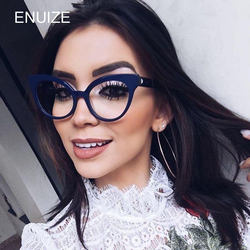 Vintage Women Cat Eye Plain Glasses Frames Optical Brand Women Clear Cat Eye Eyeglasses Frame Glasses for Women