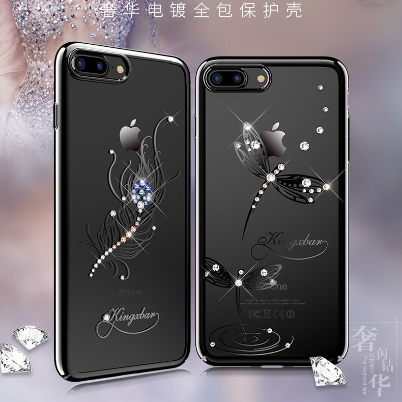 Original Kingxbar Electroplated PC With Crystals from Swarovski Rhinestone Case Cover For Apple iPhone 7/ 8/ Plus Phone Housing