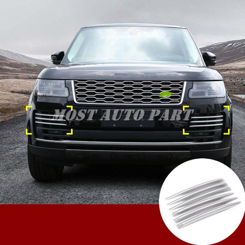 ABS Front Stoßstange Grille Air Vent Trim Abdeckung Für Land Rover Range Rover L405 2018 Silber/Schwarz